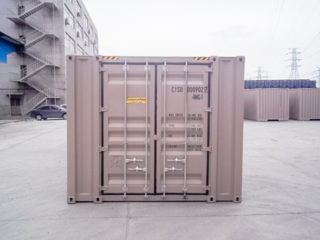 Extra wide container doors