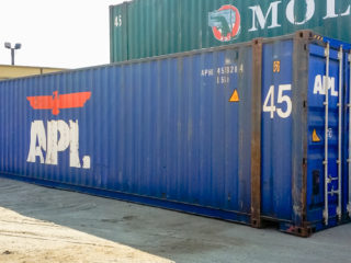 Extra long container side view.