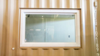 5' x 3' fixed window installed in container
