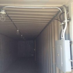 40ft Shipping Container with Electrical Outlets & Lighting