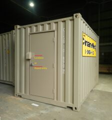 Man door with lockbox and keyded entry - Shipping Containers