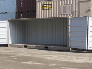 20' open side container with side fully open.