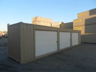 40' Container with three roll up doors