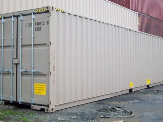 40' Double door shipping containers in our yard.
