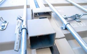 Container padlock hasp