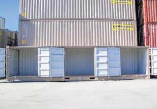 Three-side-doors-containers